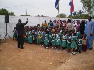 Gambia 2009 Opening van de Bojang Nurseryschool